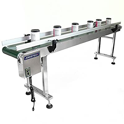 JORESTECH Motorized Belt Conveyor , 12 x 82 Inch Belt, 110V/120W