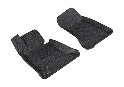 (3D MAXpider Front Row Custom Fit All-Weather Floor Mat for Select BMW 5 Series (E60) Models - Classic Carpet (Gray) )