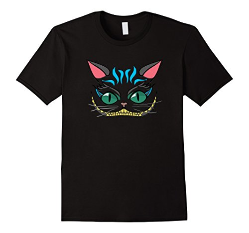 Mens Funny Grin Cheshire Faced Cat T-Shirt Men Women Kids 2017 Small (Cheshire Cat Costume Male)