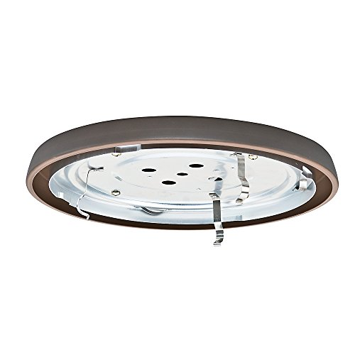 Fitter Cfl - Casablanca Fan Company 99068 CFL Low Profile Fitter, Brushed Cocoa