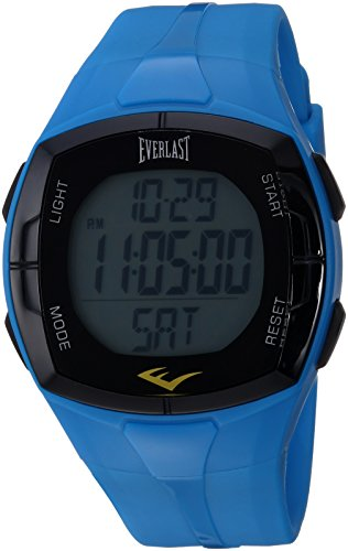 omatic Fitness Watch with Rubber Strap, Blue, 22 (Model: EVWHR002BL ()