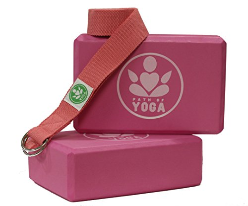 Path of Yoga Blocks 2 Block and Strap Set Combo