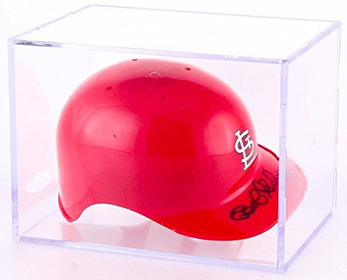 Display Cases Hat Mlb (Bob Gibson Autographed Signed Cardinals Mini Batting Helmet With Display Case JSA Authentic)