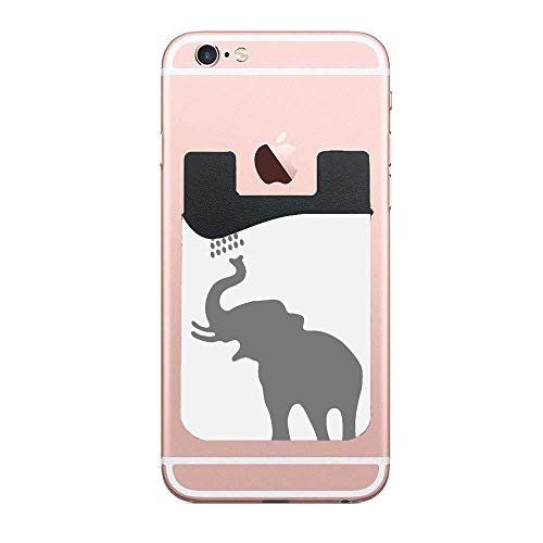 - Cellcardphone Jianyue Elephant Taking A Shower Bathing in Bath Tub Shadow Cell Phone Stick on Wallet, Credit Card, Business Card & Id Holder, Compatible with iPhone, Android & Most Smartphones 2 PCS