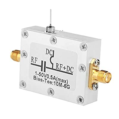 Zyyini Bias Tee,10MHz-6GHz Broadband Radio Frequency Microwave Coaxial Bias for Broadband Radio Amplifier Optical Fiber: Home & Kitchen
