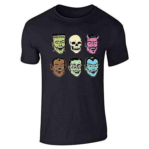 Pop Threads Retro Monster Party Halloween Costume Zombie Black M Short Sleeve T-Shirt -