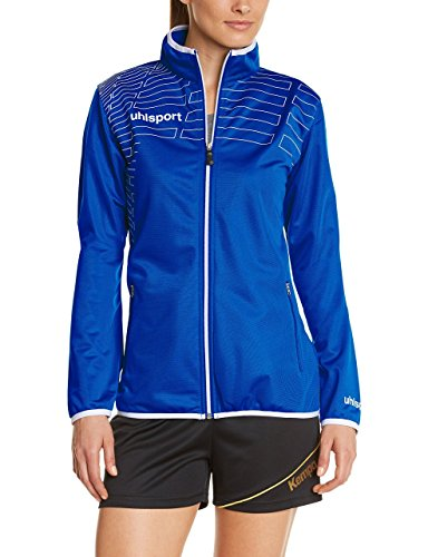 Uhlsport 100513301 - Sudadera con cremallera para mujer Azul (Blue Royal/White)