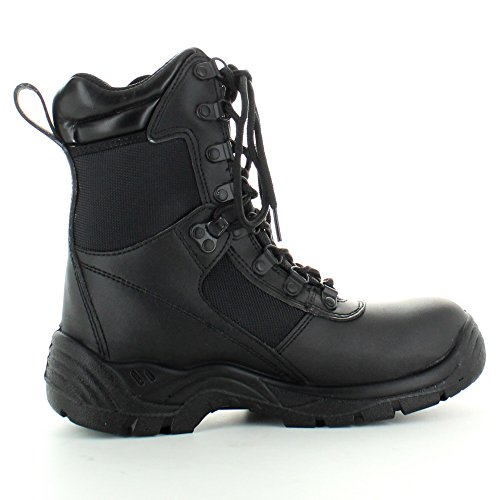 Highlander Boys Recon Smooth Action Leather Combat Boots Black