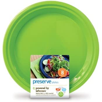 Amazon Com Reusable Plate Set Of 8 Color Apple Green