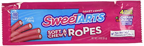 Sweet Candy Cherry (Wonka Kazoozles Rope Cherry Punch 24 pack (1.8 oz per pack))