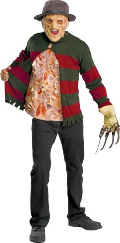 Freddy Krueger Sweater with Chest Of Souls - Standard (Fits Up To 44 Jacket Size) - Adult Freddy Sweater