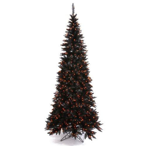 Vickerman - Árbol de Navidad con Luces Naranjas, Color Negro, K161946, Negro, 1, 1