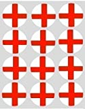 12 england english st george's Flag rice paper fairy / cup cake 40mm toppers pre cut decoration
