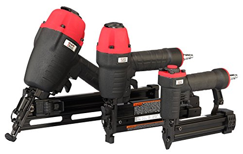 3PLUS HCBFN3SP Pneumatic Angle Finish Nailer & Narrow Crown Stapler & Pinner Combo Kit ()