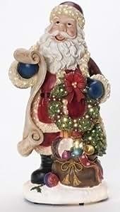 "Fiber Optic Santa Figurine - 14"" High"