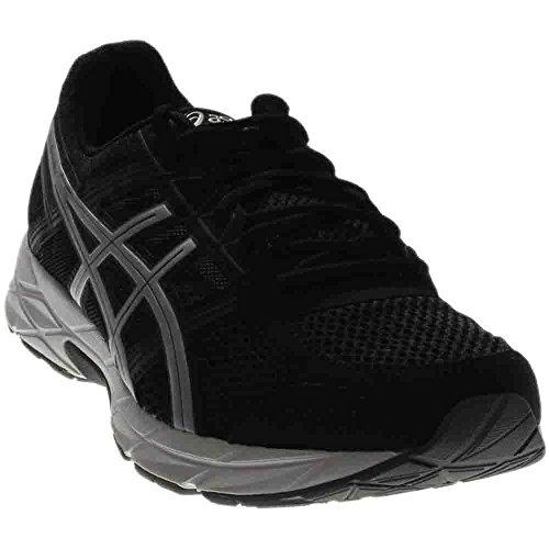 ASICS Men's Gel-Contend 4 Running Shoe, Black/Silver/Carbon, 12 M US
