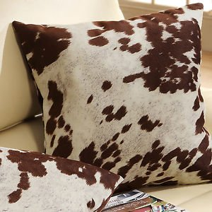 Must Have Decorative Accent Throw Toss Cow Hide Print Pillows (Set Of 2)