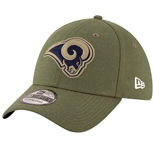8 Salute to Service 39Thirty Flex Fit Hat (Large/X-Large, Los Angeles Rams) ()