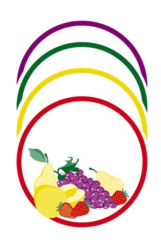 Decorative Round Fruit Labels, Pack of 40