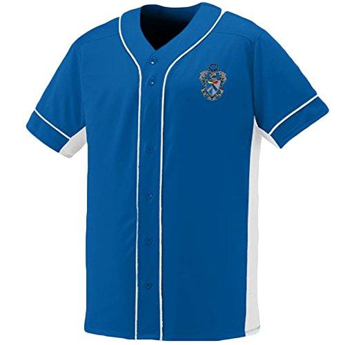 Sigma Tau Gamma Fraternity Crest Slugger Baseball Jersey Small Royal/White