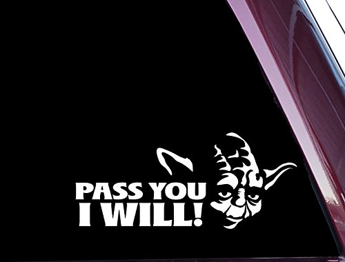 Amazoncom Pass You I Will FUNNY High Quality Precisioncut - Star wars car decals