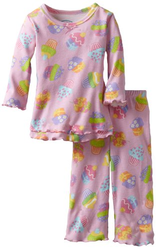 Sara's Prints Baby Girls' Ruffle Top And Pant, Cute Cupcakes, 12 Months
