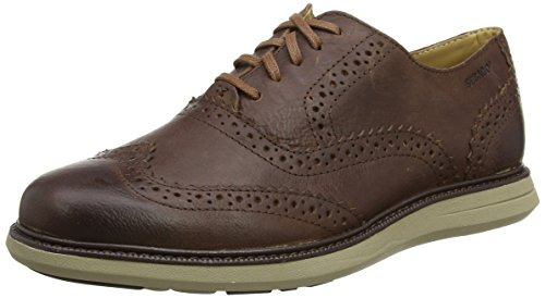 Sebago Smyth Wing Tip, Náuticos Para Hombre, Marrón (Brown Leather), 40 EU