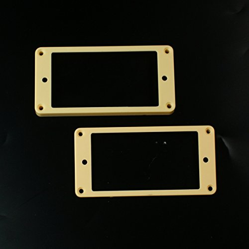 Set of 2 Humbucker Pickup Mounting Rings for bridge and neck pckups, Curved bottom,Cream (Cream Rings Humbucker Pickup)