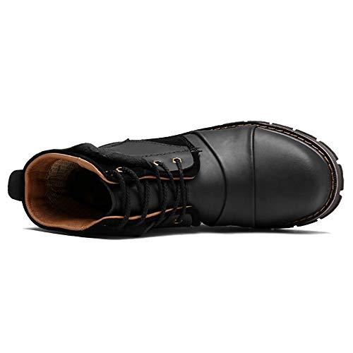 Vintage Scarponcini Pelle Stivaletti Scarpe Da Da Da Trekking Scamosciata Da Scarponcini Tipi Trekking Trekking Black Due Di Alti In Uomo Scarponcini Fodera Da Uomo rqaFpAIan
