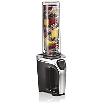 'Hamilton Beach Go Sport Personal Single Serve 600 watt Blender with Travel Lid (51140)' from the web at 'https://images-na.ssl-images-amazon.com/images/I/41QOaxuRdwL._SL500_AC_SS350_.jpg'