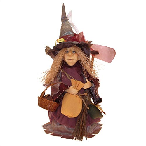 Witches of Pendle – Amelia Witch Standing Burgundy 24cm