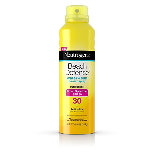 Spf Neutrogena 30 (Neutrogena Beach Defense Body Spray Sunscreen with Broad Spectrum SPF 30, Water-Resistant and Oil-Free Sun Protection, 6.5 oz)