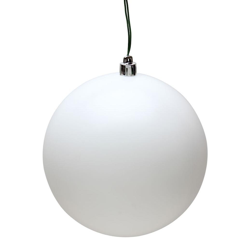 Vickerman 480816-2.4 White Matte Ball Christmas Tree Ornament (24 pack) (N590611DMV)