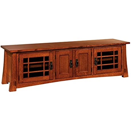 Amish Heirlooms Modesto Solid Maple TV Cabinet 72 Width X 18 Depth X 21 5 Height Charcoal Finish