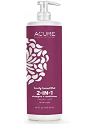 Acure Body Beautiful 2-in-1 Shampoo & Conditioner Marula + Mint (1 pack)