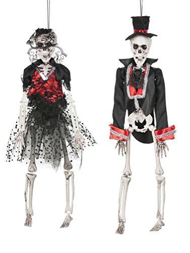 Ganz Halloween Skeletons Let's Party Bride & (Skeleton Groom Halloween Costume)