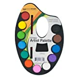 Watercolor Paint Artist Palette With Mixing Tray - Pack of 72
