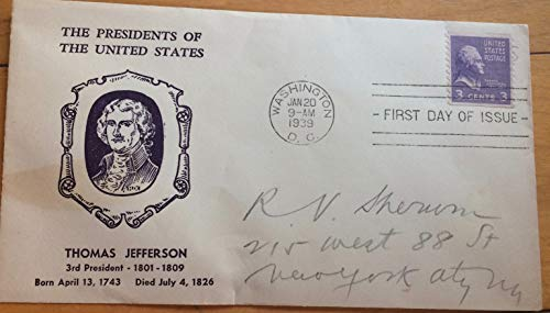 Thomas Jefferson First Day of Issue envelope, 1939, mint condition ()