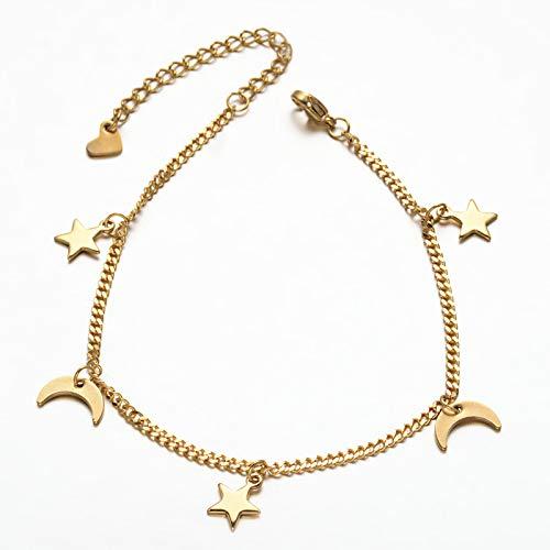 New Christmas Style Gold Colour Moon /& Star Charm Bracelets
