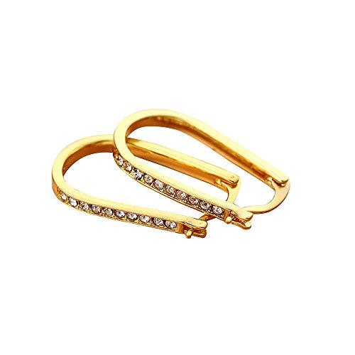 Hmlai Fashion Crystal U Shaped Hoop Earrings for Women Ladies ()