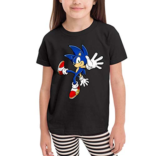 Badalink Sonic Hedgehog Girls&Boys Toddler Comfortable Shirt Black