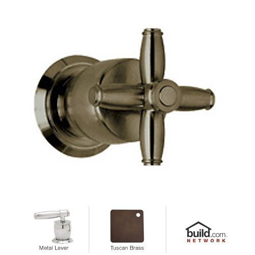 Lever Rough (Rohl MB1951LMTCB Michael Berman Volume Control Wall Mounted Trim Set Package Only No Rough with Metal Lever for The R1040 & R1041 Rough Valves, Tuscan Brass)