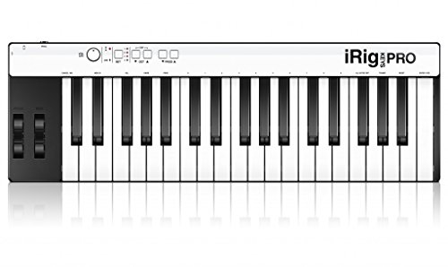 IK Multimedia iRig Keys Pro full-sized 37-key MIDI controller for iPhone, iPad, Android and Mac/PC (Best Cheap Midi Controller)