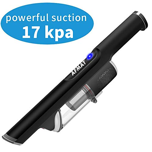 Cordless Hand Vacuum, 17Kpa Rechargeable Powerful Cordless Hand-held Vacuums, 17Kpa Powerful Suction, Cordless Vacuum Cleaner, Quick Charge with Charging Dock, 2 Modes, Black