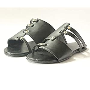 Sunyastor Womens Open Toe Flat Sandals Retro Cut Out Slip Leather Sandals Casual Summer Shoes Ladies Beach Roman Slippers Gray