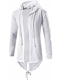 Mens Cardigan Hooded Long Cloak Cape Coat Cosplay Loose Casual Slim Fit Jacket