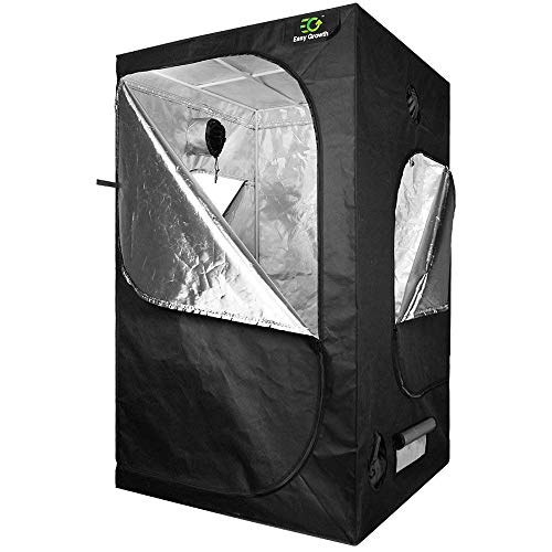 EasyGrowth 40''x40''x80'' Reflective Mylar Hydroponic Grow Tent with Observation Window and Waterproof Floor Tray for Indoor Plant Growing by EasyGrowth (Image #8)