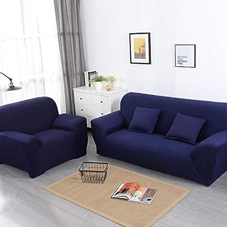 chenbyyao Color Liso Estiramiento Universal Azul para Cuatro ...