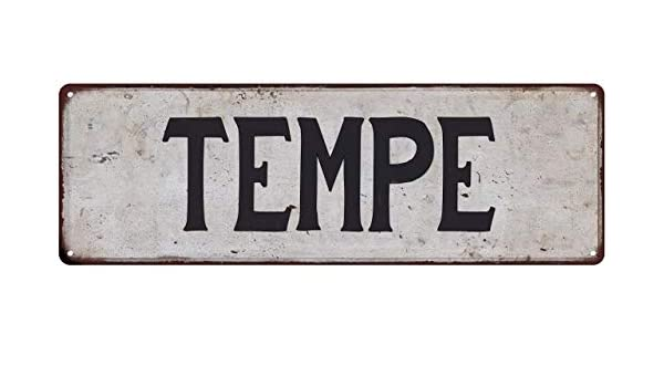Amazoncom Tempe Vintage Look Rustic Metal City State Sign 8 X 24