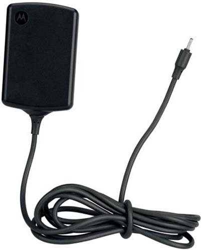 - Motorola 89452N/SPN5633A Xoom Travel Charger with Original OEM 89452N SPN5633A - Non-Retail Packaging - Black